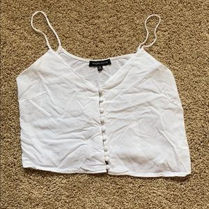 Kendall and Kylie Front Button Down Crop Top
